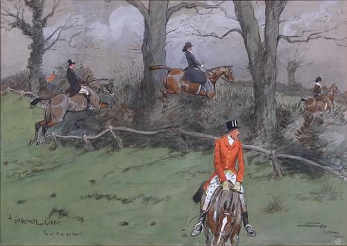 """'A Cottesmore Oxer. """"Go at it or go home""""'"""