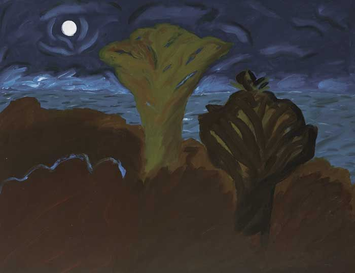 TWO TREES BY MOONLIGHT