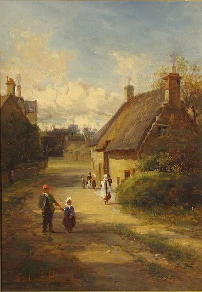 A village street scene