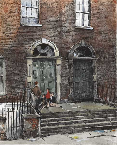 DOORWAYS IN BRIDE STREET, DUBLIN
