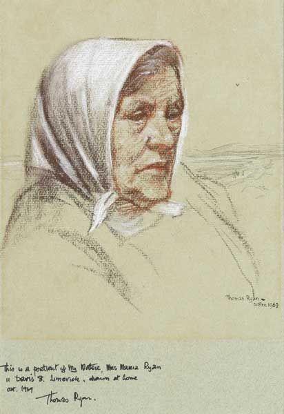PORTRAIT OF THE ARTIST'S MOTHER, MRS. MARIA RYAN, OCTOBER, 1969