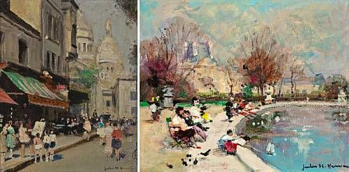 By the pond; Montmartre