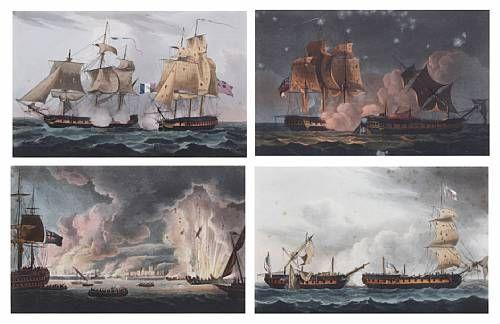 Capture of the Castor, 1794; Capture of La Pique, 1795; Capture of La Forte, 1799; Destruction of the French Fleet at Toulon, 17