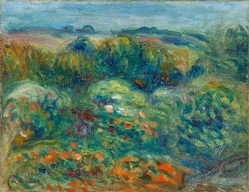 Site montagneux, arbustes et fleurs