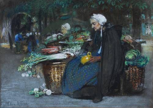 A vegetable market