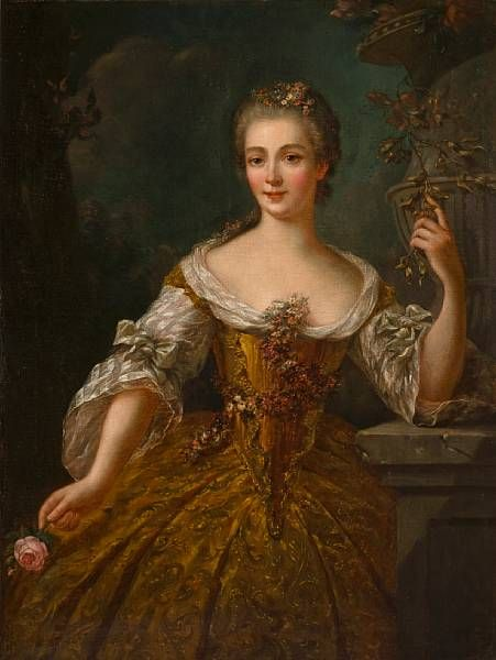 A portrait of a lady, thought to be Madame de Vaudrieres