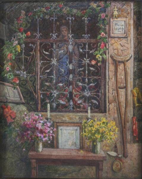 Saint's niche in a church