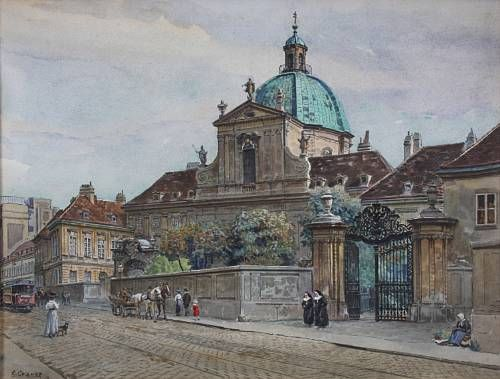 Church by a busy street