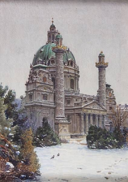 View of the Karlskirche, Vienna