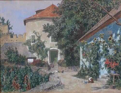 A sunlit courtyard
