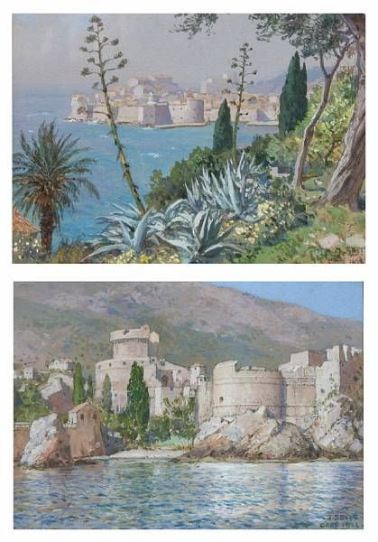 View of Gruz, Croatia; fortress ruins - Gruz