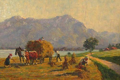 Haying near the Chiemsee, Switzerland
