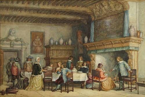 A room in Old Corporation Hall, Antwerp, Belgium