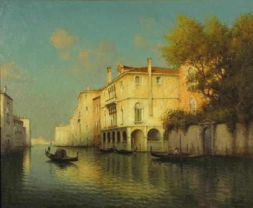 A Venetian canal scene