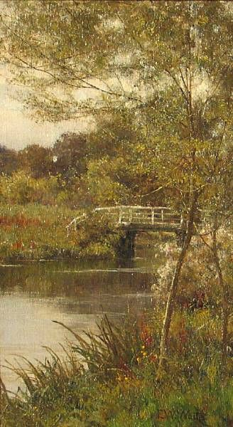 Summer- a bridge over a stream
