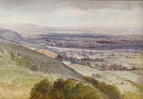 An English countryside vista