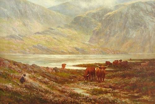 Highland cattle by Loch Argyll