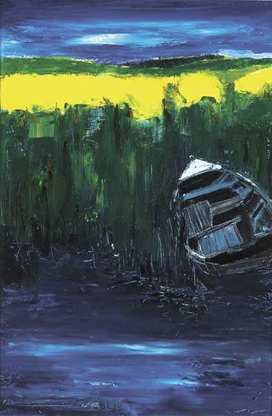 BOAT IN REEDS, NOVEMBER, 1999