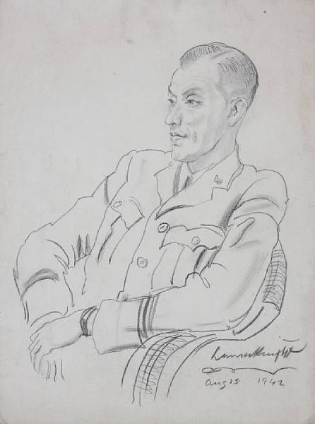 Portrait of an army officer, seated, half length