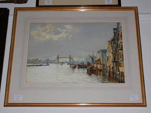Thames scene with Tower bridge