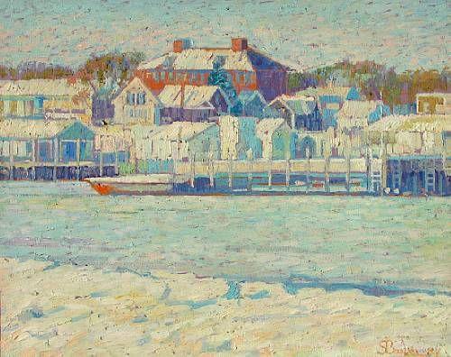 First snow, Hyannis Port, Massachusetts