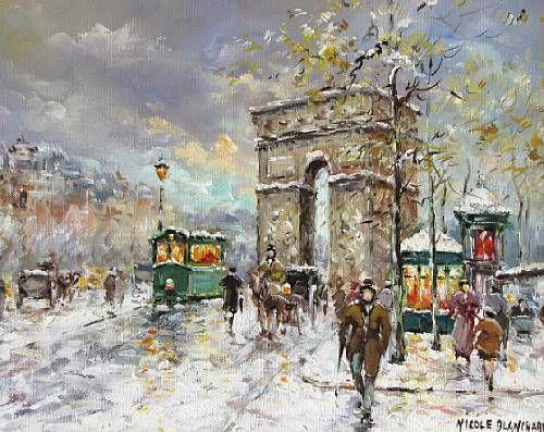 Arc de Triomphe Neige