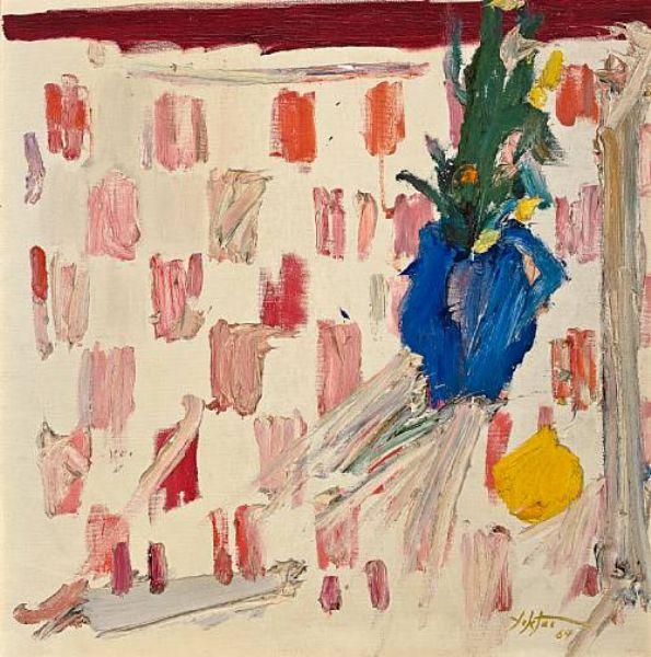 Untitled (Blue vase)