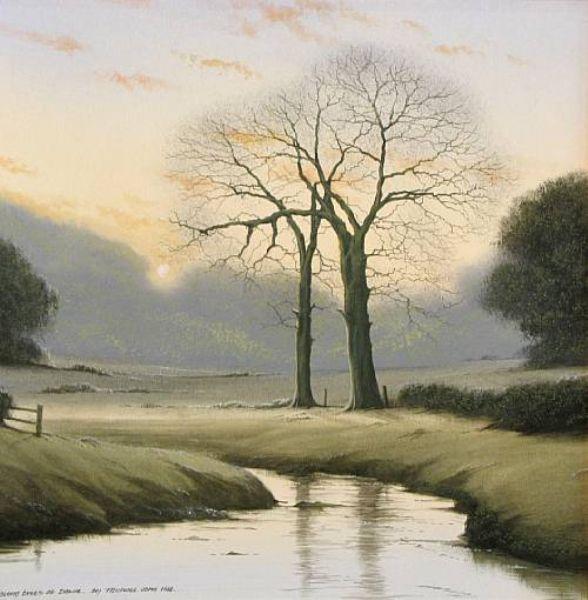 Loving trees at dawn
