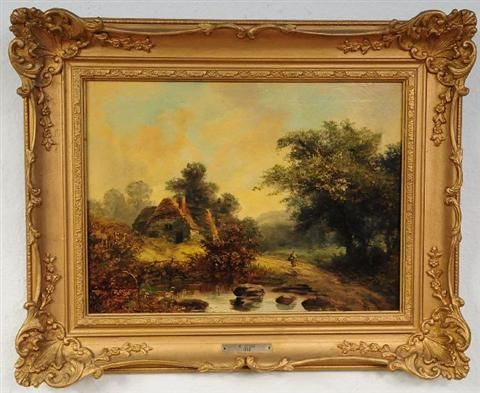 Figure in a Landscape with Cottage