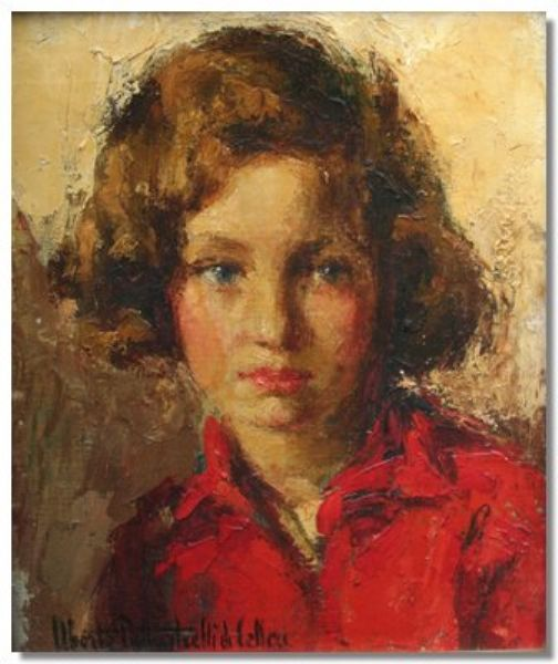 portrait of a girl, head and shoulders length
