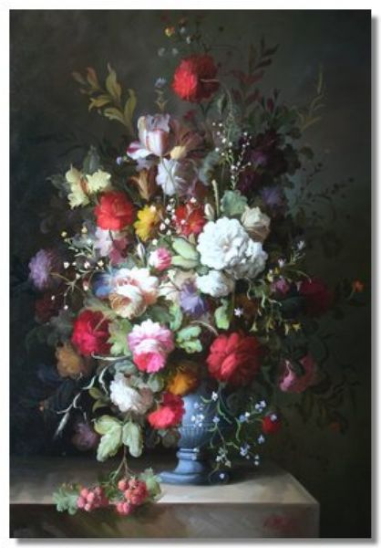 Sill life of flowers in a vase