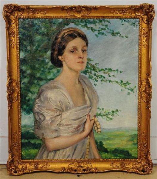 Portrait of a Woman in a Landscape