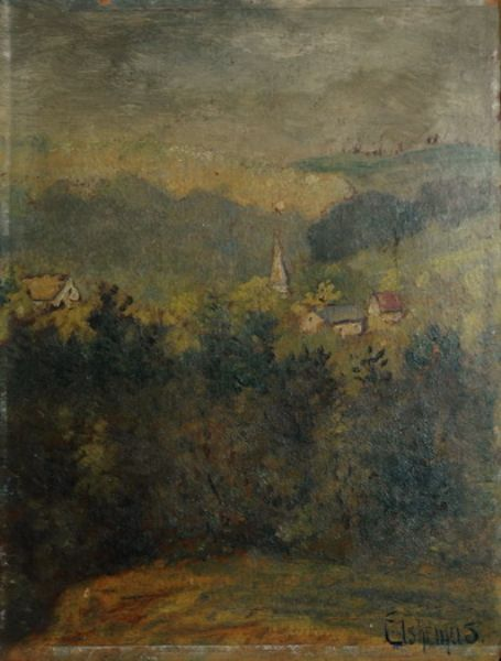 Glimpse of a Village in a Valley