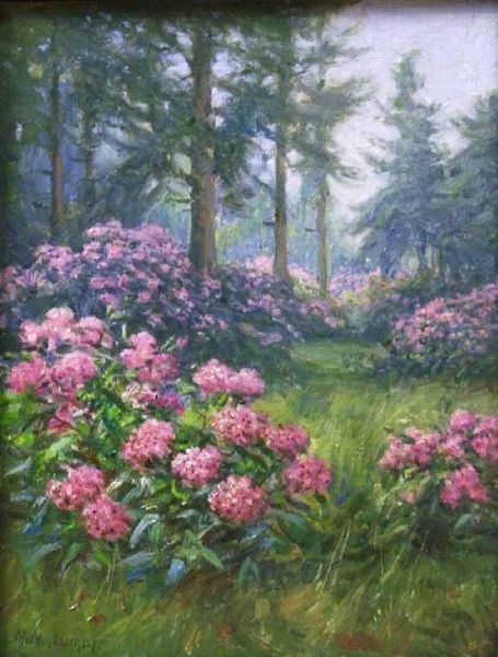 Forest Scene with Rhododendrons