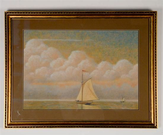 Sailing Ships and White Clouds