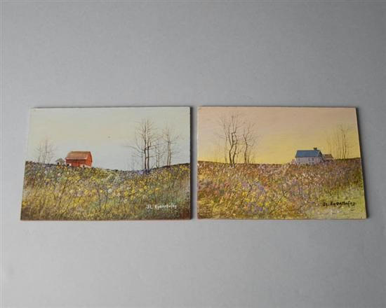 Two Small Farm Landscapes