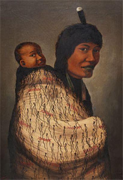 Maori Woman & Child