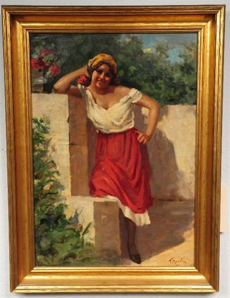 Young Girl by a Wall