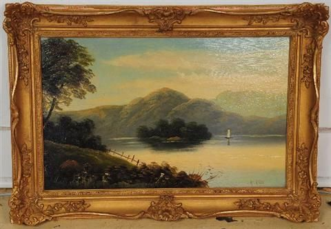 Landscape with Lake and Boat
