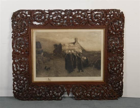 Group of Figures by a Farmhouse