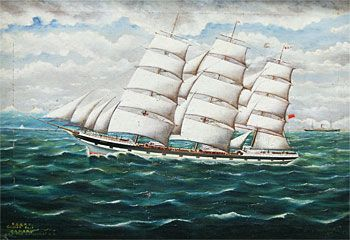 Clipper Ship Oamaru off the Kaikoura
