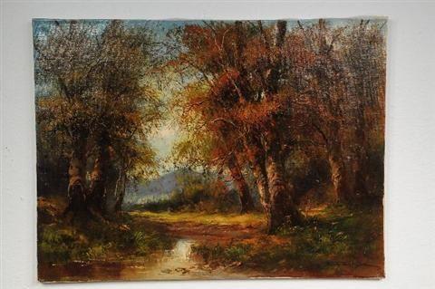 Autumnal Landscape with River