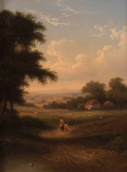 Country Landscape with Figures