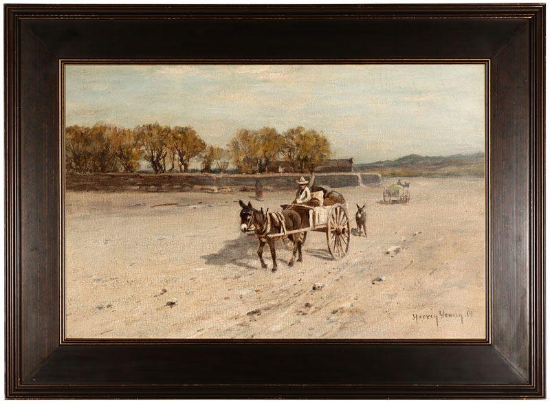 Figures in burro-drawn carts, possibly Arizona