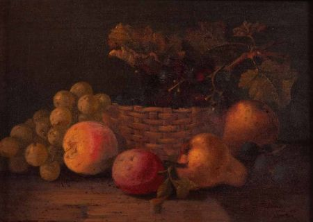 Still Life Study depicting a Basket of Mixed Fruit