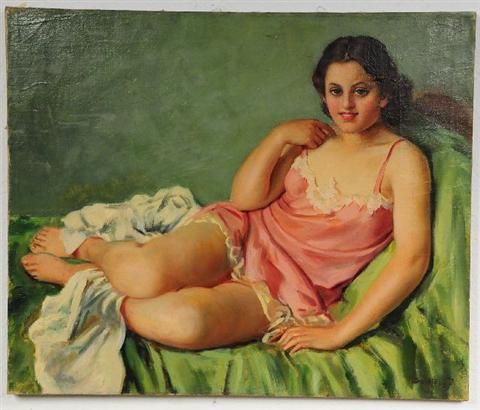 Woman in a Pink Slip