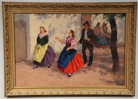 Figures in a Courtyard
