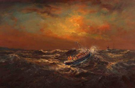Wells Lifeboat at Sea