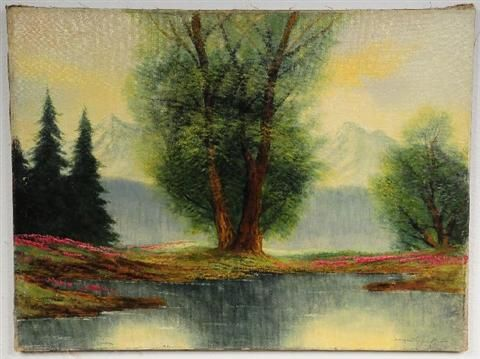 Mountain Scene with Lake