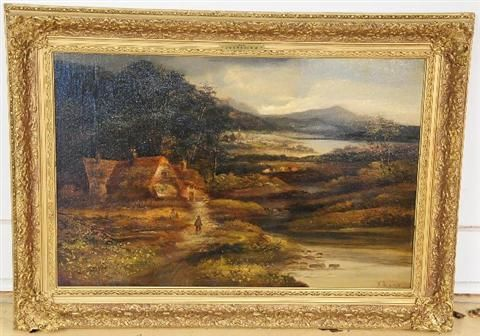 Landscape with Figures and Cottage